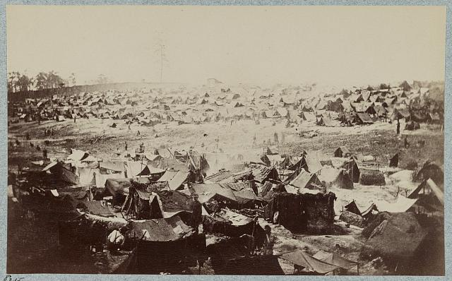 Andersonville Prison, Ga., August 17, 1864. North-west view of stockade