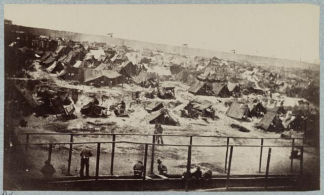 Andersonville Prison, Ga., August 17, 1864. South view of stockade