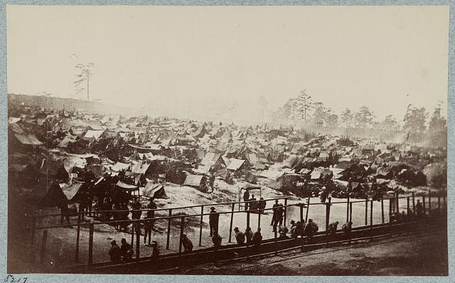 Andersonville Prison, Ga., August 17, 1864. South east view of stockade