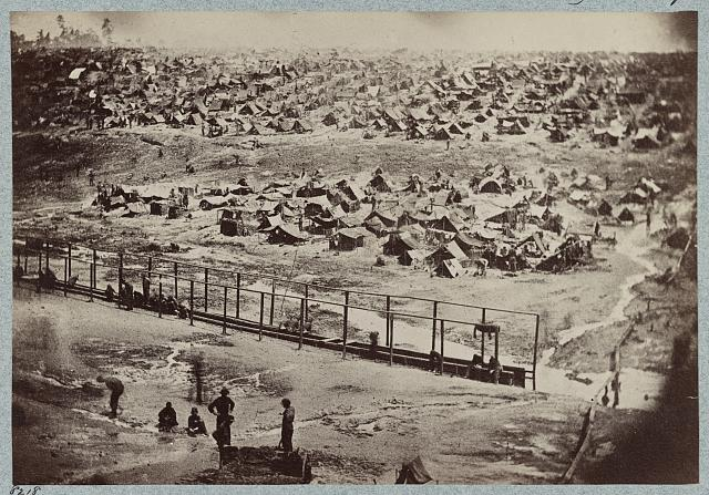 Andersonville Prison, Ga., August 17, 1864. Bird's eye view