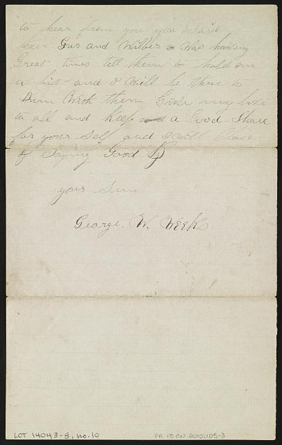 [Letter from George W. Weeks, Manchester, Va., to Mother and Father]
