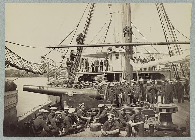 Gunboat Mendota on James River, Va., August, 1864