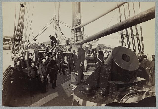 Deck of one of Porter's mortar schooners
