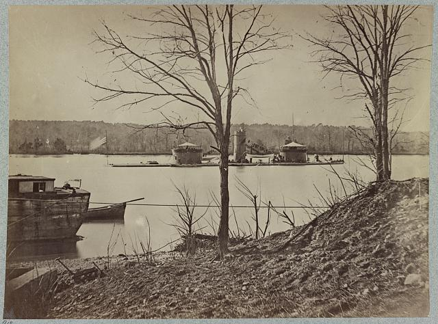 Double turreted monitor, Onondaga, James River, Va.
