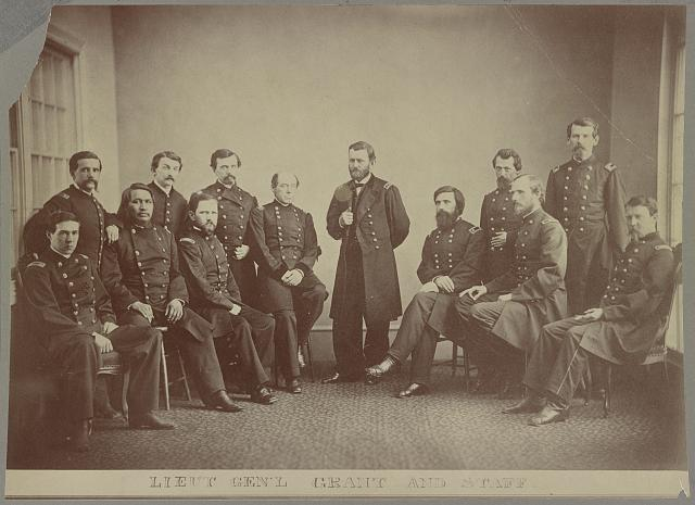 Lieut. Gen'l. Grant and staff