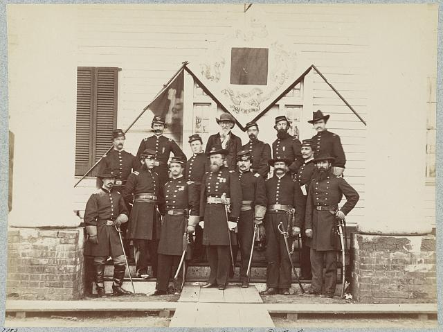 Major General D. B. Birney and staff