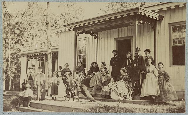 Gen. S. P. Heintzelman and group, convalescent camp, near Alexandria, Va.