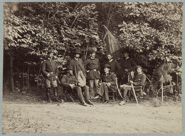 Major General Wesley Merritt and staff