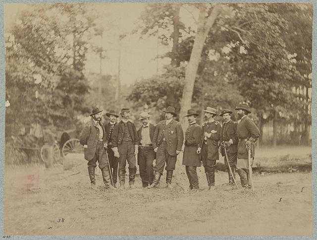 Major General W. F. Smith and staff