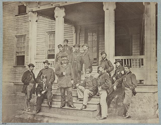 Maj. General John Sedgwick and staff
