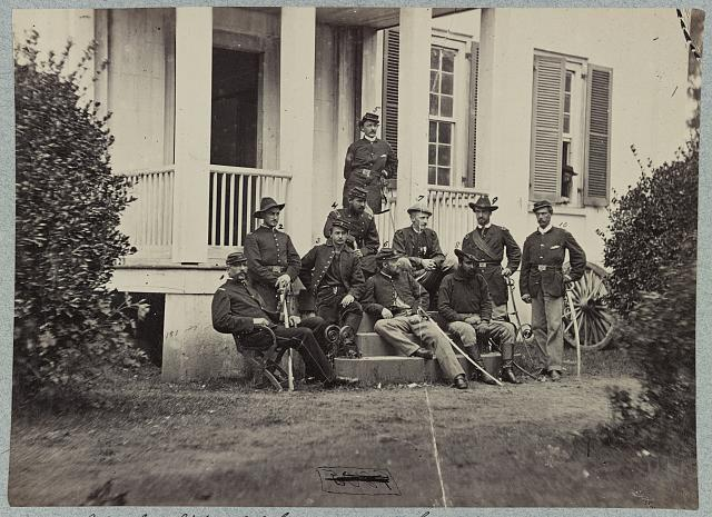 Major General James H. Wilson and staff, City Point, Va., July 1864