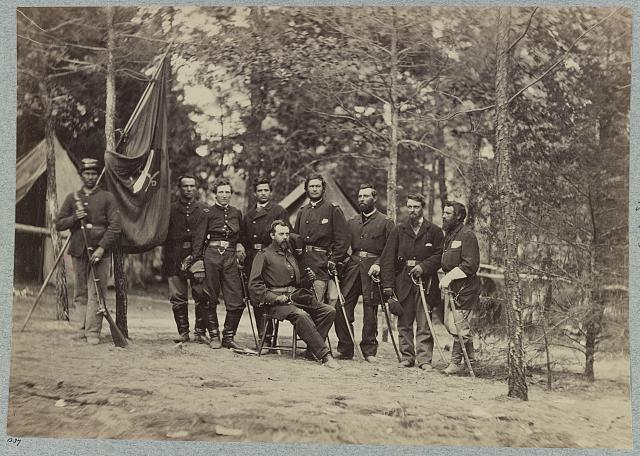 Bv't. Maj. Gen. O. B. Willcox and staff