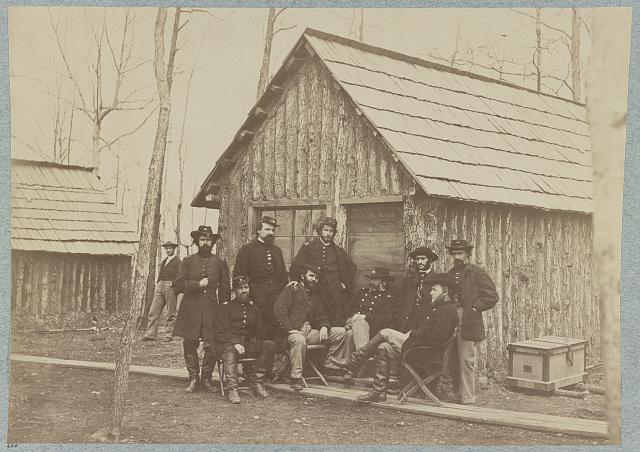 Field and staff officers of 50th New York Engineers Camp near Rappahannock Station, Va., March, 1864