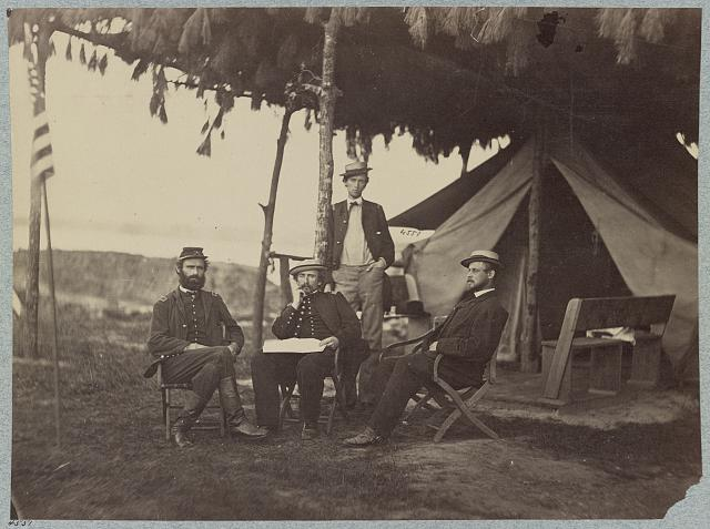 Officers of 5th U.S. Cavalry near Washington, D.C., June, 1865