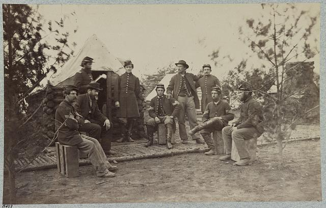 Officers and non-coms. of Co. (?), 119th Penn. Inf'y