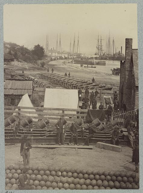 Siege train at Yorktown Landing, Va.
