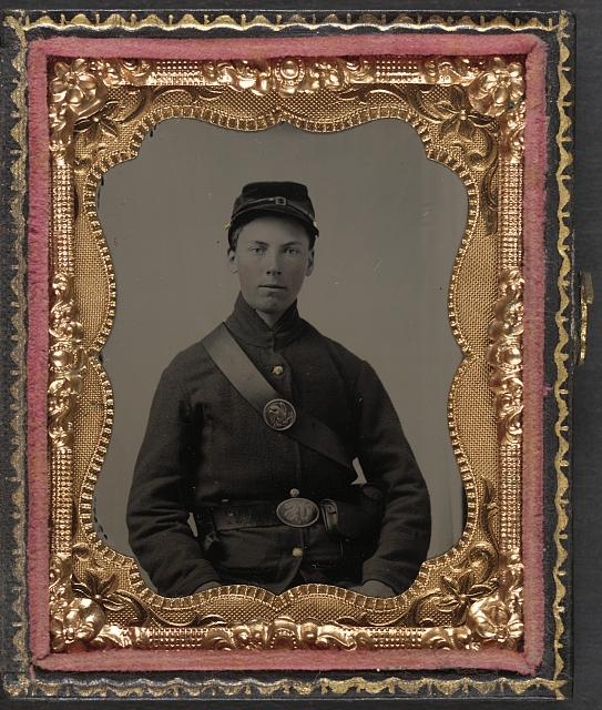 [Private Nathaniel Shoup of Co. C, 84th Pennsylvania Infantry Regiment in uniform]