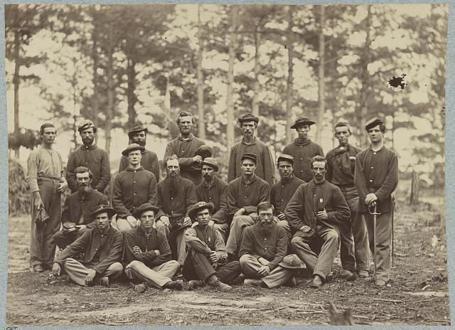 Co. B, U.S. Engineers in front of Petersburg, Va., August, 1864