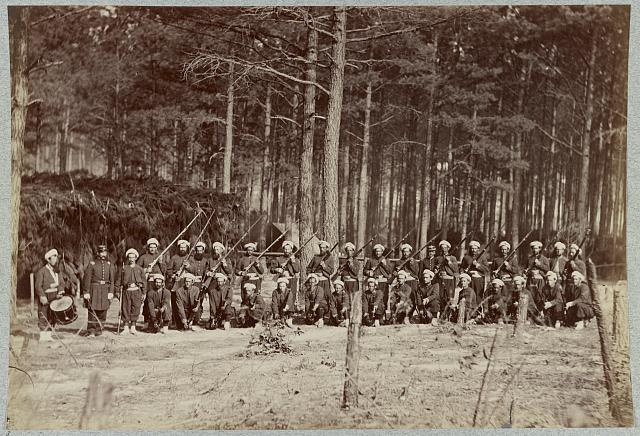 Co. F, 114th Pennsylvania Infantry in front of Petersburg, Va., August, 1864