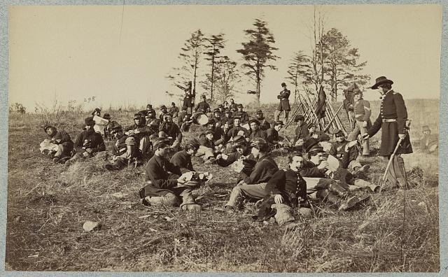 "Company ""B"", 170th N.Y. Infantry in front of Petersburg, Va."