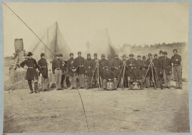 Co. - , 61st New York Infantry, Falmouth, Va., April, 1863