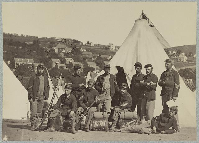 Group, 22d New York State Militia near Harper's Ferry, Va., 1861 [i.e.1862]