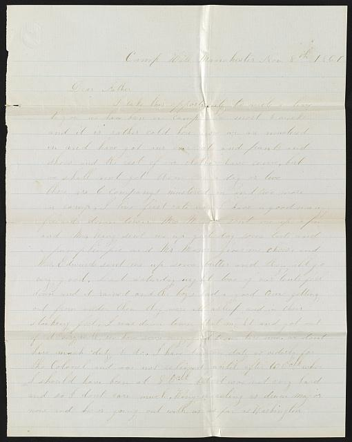 [Letter from Private Charles F. Stevens of Co. A, 7th New Hampshire Infantry Regiment, to Mr. Samuel Stevens, Francestown, N.H.]