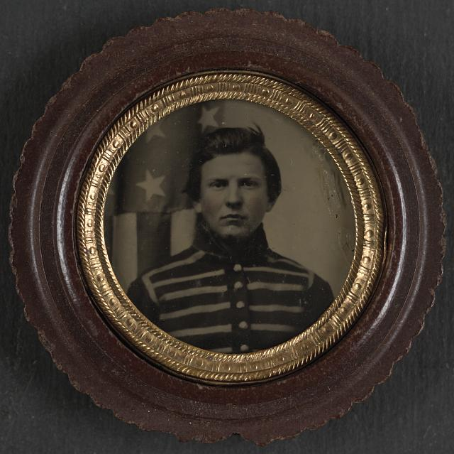 [Unidentified soldier in Union musician's uniform]