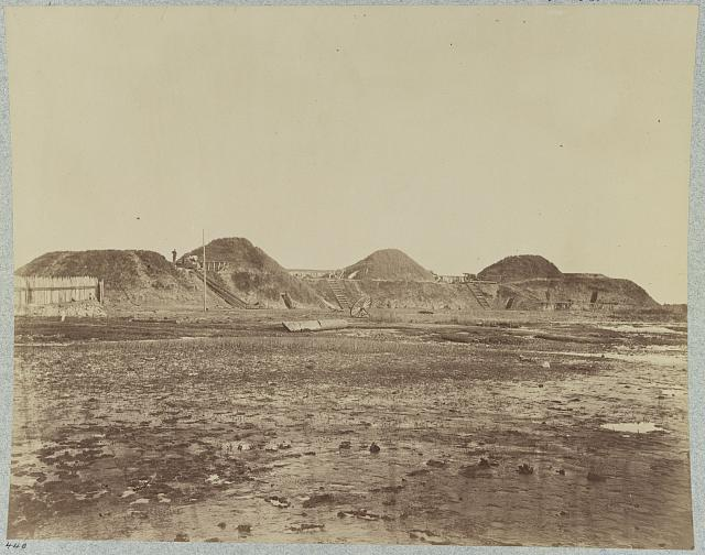 Fort Fisher, N.C., Interior view of first three traverses on land face