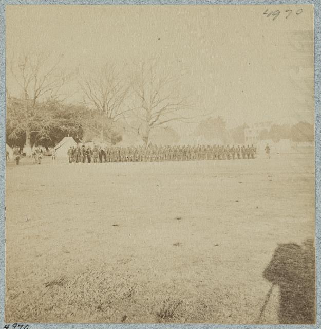 Dress parade of First South Carolina, (U.S.C.T.), Beaufort, S.C.