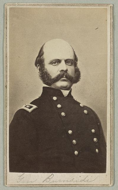 [General Ambrose E. Burnside, head-and-shoulders portrait, facing slightly right, wearing military uniform]