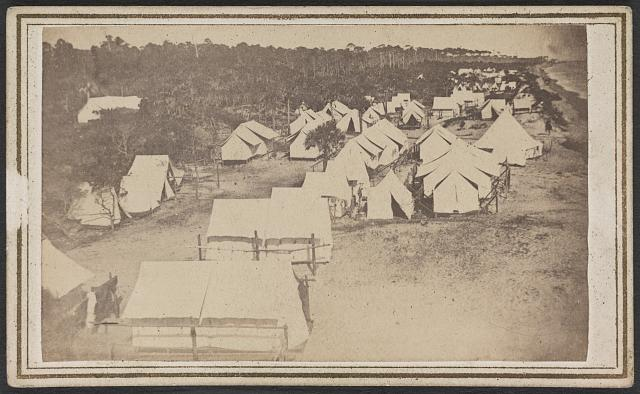 [Military camp at Morris Island, South Carolina]