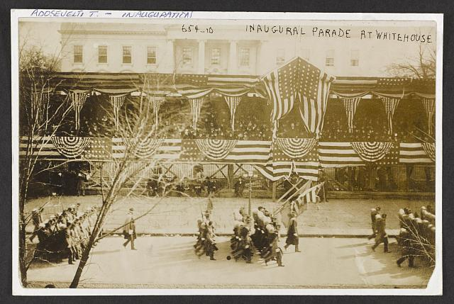 Inaugural parade at White House