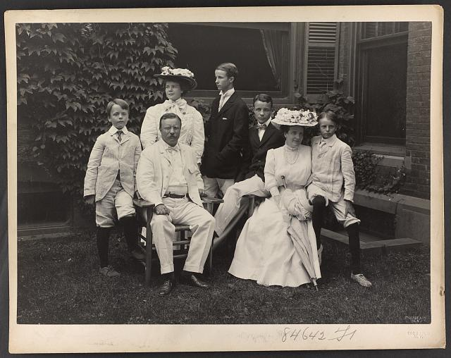[Mr. and Mrs. Theodore Roosevelt and children]