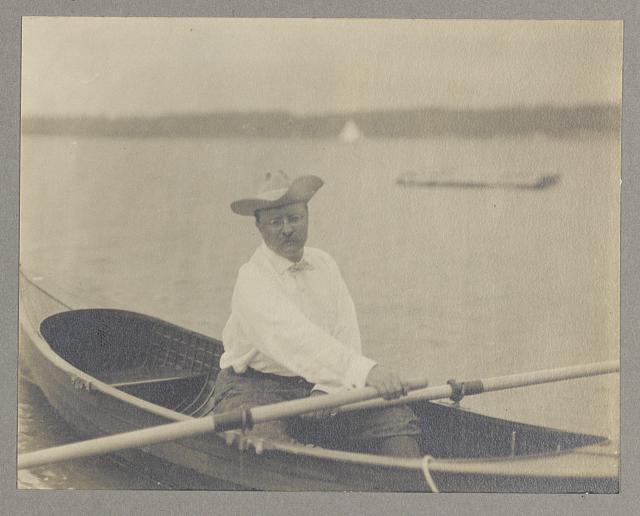 President rowing