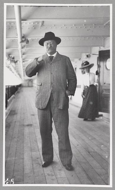 "[T. R. Roosevelt on board ""Kaiserin Auguste Victoria"", June 1910.]"