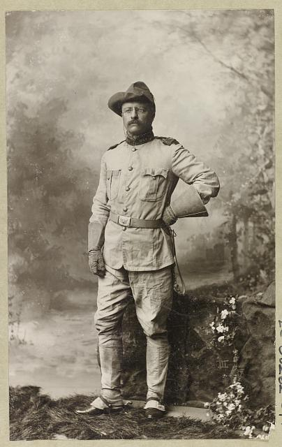 [Colonel Theodore Roosevelt, in uniform, full-length portrait, standing, facing slightly left]