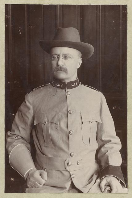 [Theodore Roosevelt, half-length portrait, in uniform, facing slightly left]