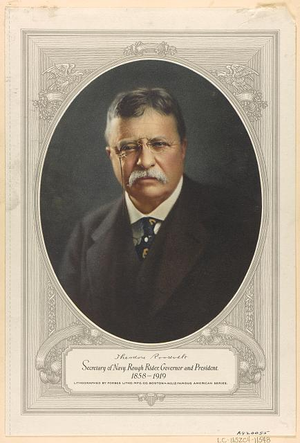 Theodore Roosevelt, Secretary of Navy, Rough Rider, governor and president, 1858-1919