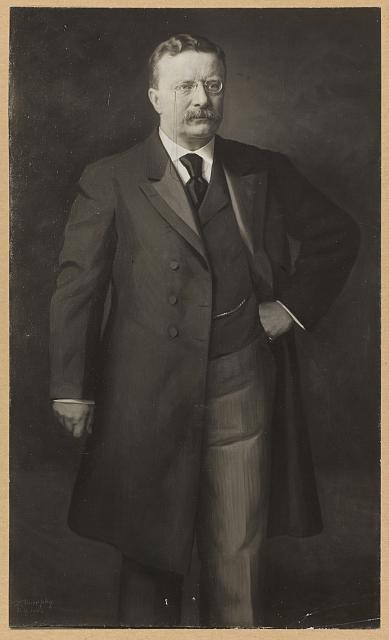 [Theodore Roosevelt, full front view portrait and standing]