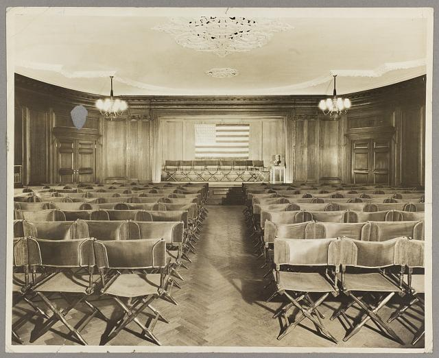 Roosevelt House, New York Auditorium.