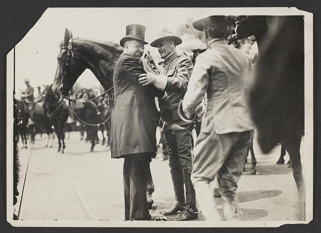 Greeting Col. Brodie of Rough Riders