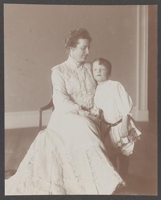 Portrait of Mrs. Roosevelt and Quentin, seated, no. 2