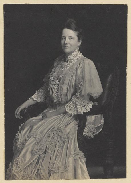 [Mrs. Edith Kermit Carow Roosevelt, three-quarter-length portrait, seated facing camera]