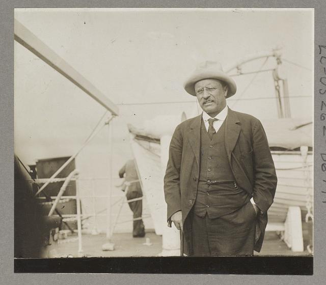 Theodore Roosevelt, Col., on the S.S. Aiden returning from S. America