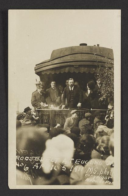 Roosevelt at Eugene, Or., April 5, 1911