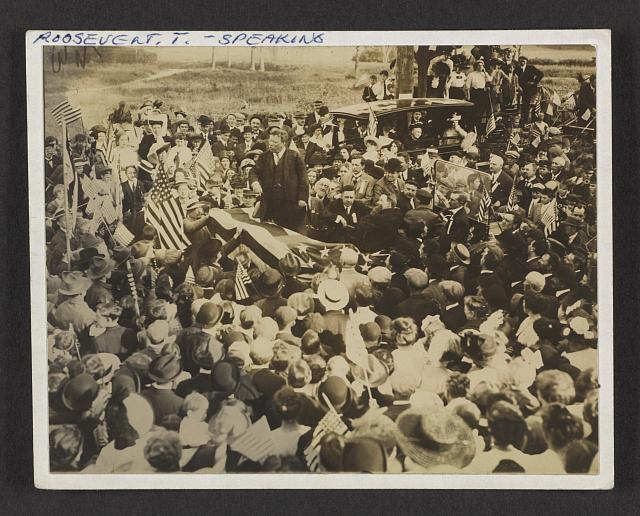 Col. Roosevelt on his tour thru New Jersey before the convention