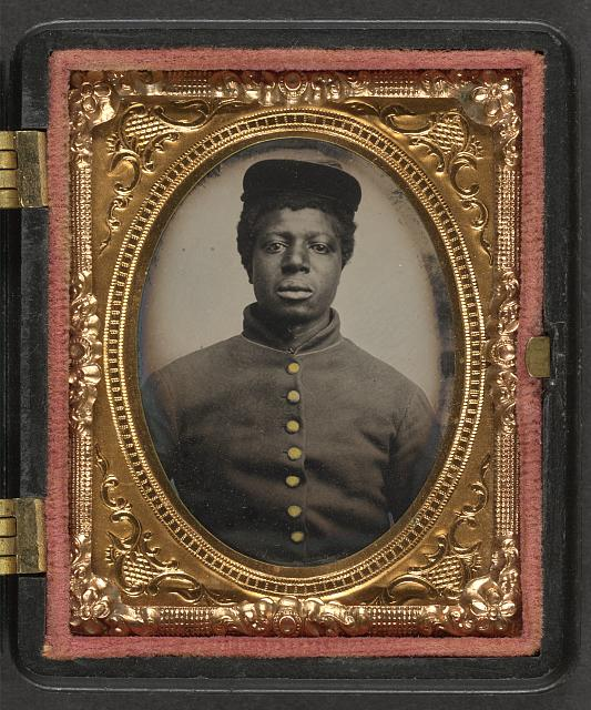 [Unidentified young African American soldier in Union uniform]