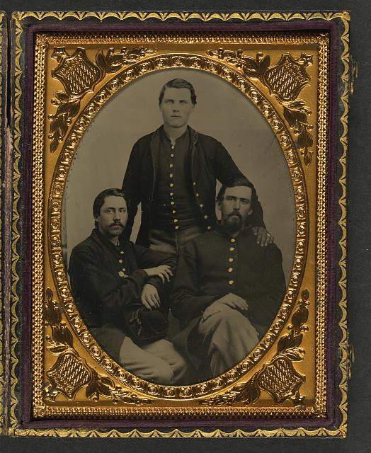 [Three unidentified soldiers in Union uniforms]