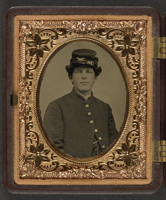 [Unidentified young soldier in Union uniform with forage cap]